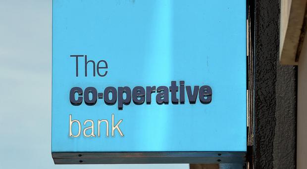 A Co-operative Bank branch sign.