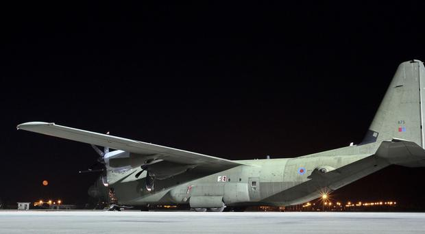 The Hercules aircraft formed part of an international effort to resupply the town