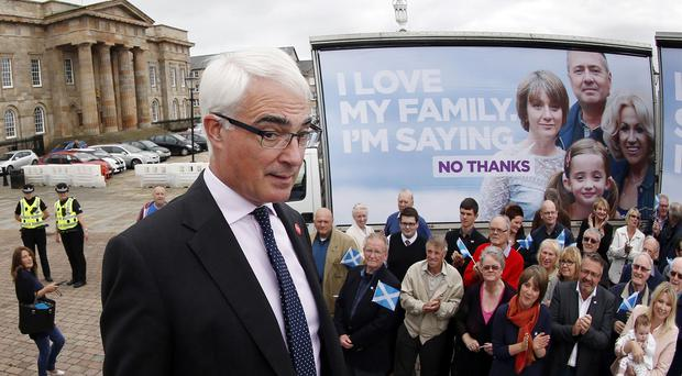 Alistair Darling claimed the best way to change Scotland was to remain in the United Kingdom