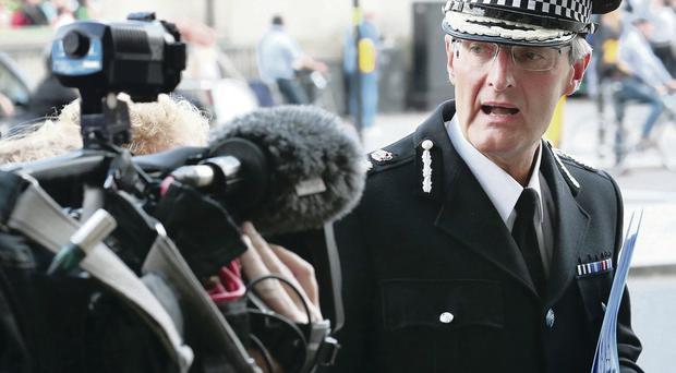 David Crompton, chief constable of South Yorkshire Police, arrives at Parliament yesterday