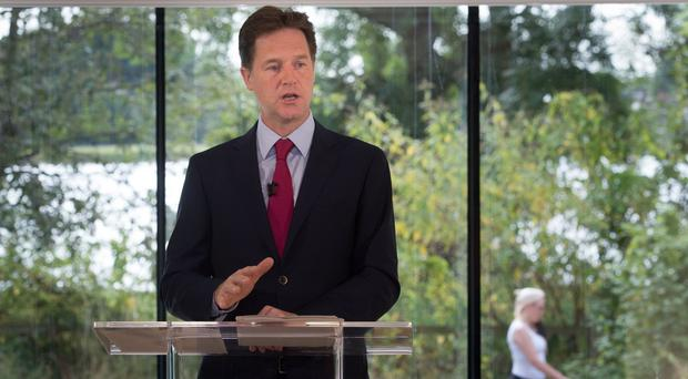 Deputy Prime Minister Nick Clegg is unveiling Lib Dem policies under the slogan Stronger Economy, Fairer Society