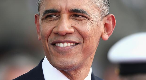 US president Barack Obama dropped in at Mount Pleasant Primary School