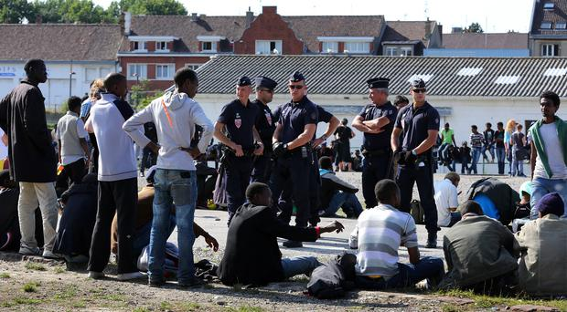 Migrants wishing to enter the UK often travel to Calais