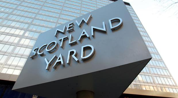 Scotland Yard said a number of shots were fired during the incident