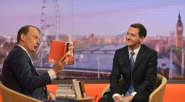 George Osborne (right) told the Andrew Marr Show that Islamic State presents a direct threat to security in the UK