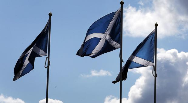 A new poll found support for independence and staying in the UK was tied at 41%