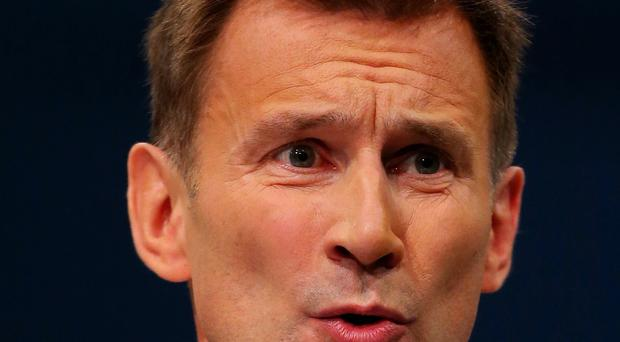 Health Secretary Jeremy Hunt said taxpayers should not have to foot the bill for people who had gone