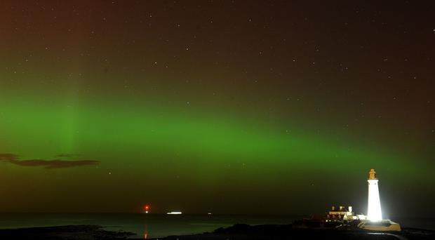 People in the north of England and Scotland are in with a chance of seeing the Northern Lights