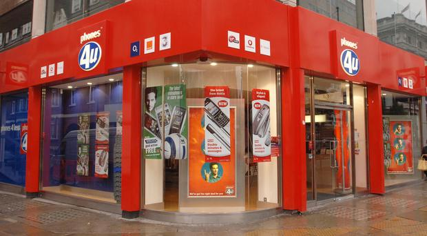 Phones 4u's stores will be closed on Monday