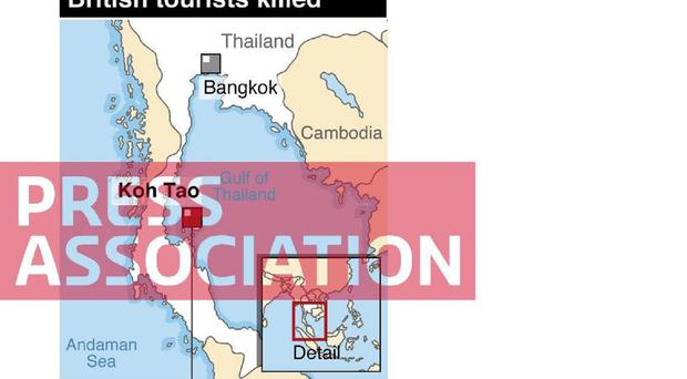 Koh Tao, an island in southern Thailand, where the bodies of two British tourists were found
