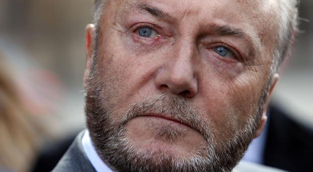 A letter sent to MP George Galloway at the Houses of Parliament contained a death threat