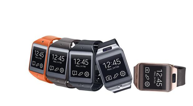 Drivers are being warned smartwatches such as these Samsung Gear 2s could be a distraction behind the wheel (Samsung)