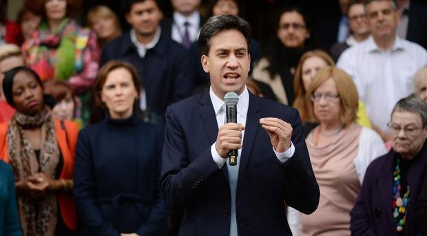 Labour leader Ed Miliband arrives in Manchester before the start of the Labour Party's annual conference