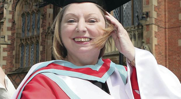 Author Hilary Mantel in 2012, when she received an honorary degree from Queen's University