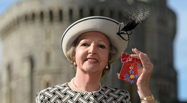 Dame Penelope Keith after she was made a Dame Commander at Windsor Castle.