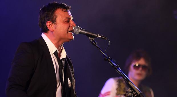 Manic Street Preachers James Dean Bradfield and Nicky Wire at the T in the Park festival