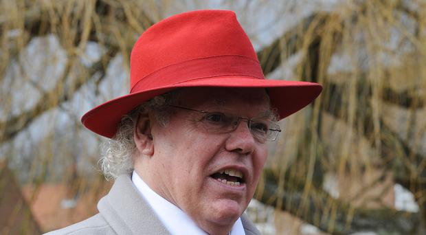 Roy Chubby Brown received a parking fine while making a donation to a hospital that treated him for cancer