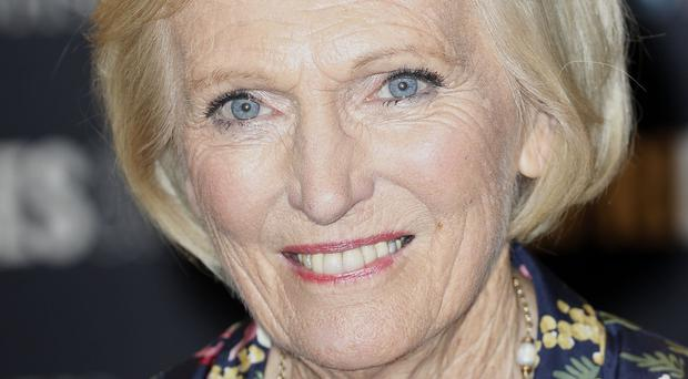 Presenter Mary Berry.