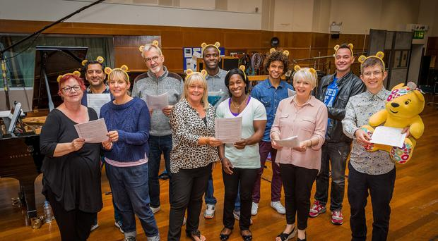 Gareth Malone has assembled a celebrity choir to create this year's BBC Children In Need single.