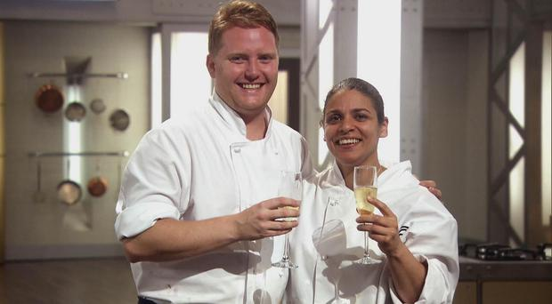 A star has been awarded to Anton Piotrowski, who shared the Masterchef title with Keri Moss (right)