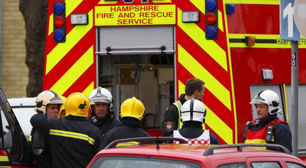 Fire crews saved more than 100 pets after a fire broke out in a home in Southampton