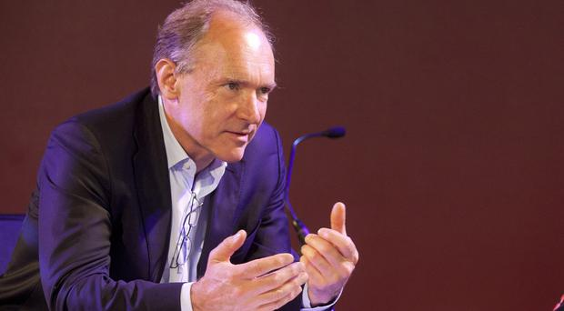 Sir Tim Berners-Lee speaks at the Web We Want Festival at the Southbank Centre in London