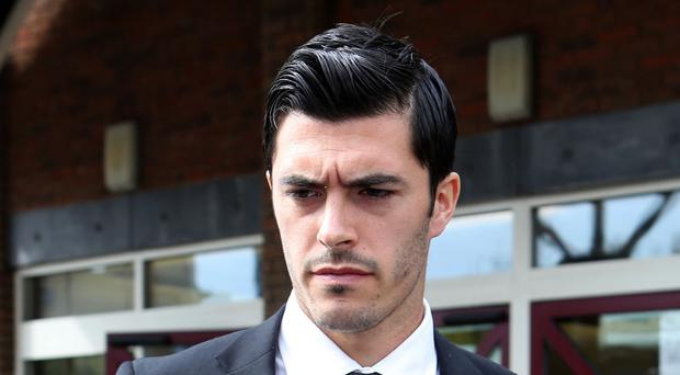 West Ham's James Tompkins pleaded guilty to assaulting a police officer outside a nightclub