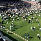The scene at Hillsborough on the day of the tragedy