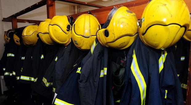 Scores of firefighters are tackling the blaze