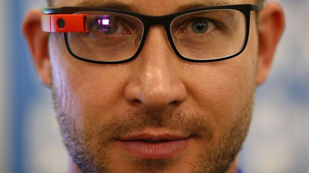 Google Glass allows users to carry out tasks hands-free
