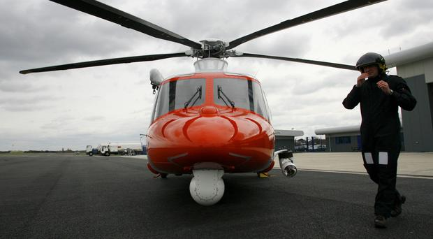 A helicopter has been deployed in the Coastguard operation to find a missing trawler crew
