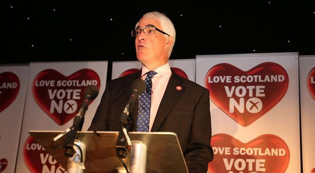 Alistair Darling speaking after Scotland's voters rejected independence