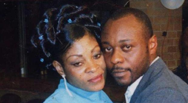 Jimmy Mubenga pictured with his wife Adrienne
