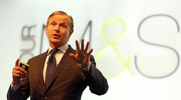 Marks and Spencer chief executive Marc Bolland hailed the surprise upturn