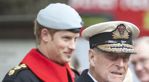 Harry attended last year with the Duke of Edinburgh