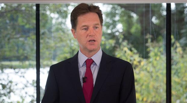 Nick Clegg has denied Norman Baker's departure meant the coalition Government had