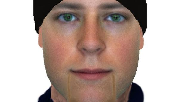 An e-fit issued by Metropolitan Police of one of the suspects over a violent burglary in Uxbridge, west London