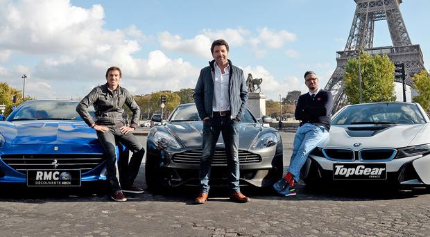Yann Larret, Philippe Lellouche and Bruce Jouanny will present the new French Top Gear (VISUAL Press)