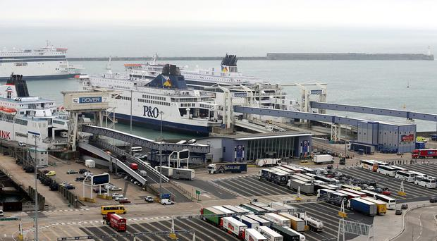 An investigation has been launched after a ferry hit a harbour wall at the Port of Dover