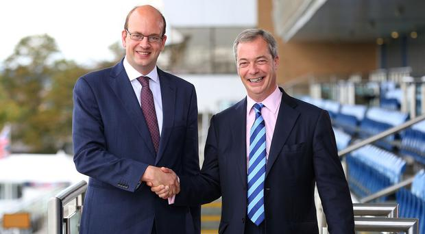 Mark Reckless (left) defended his decision to defect from the Tories to Ukip