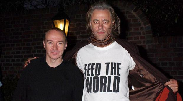 Founding Band Aid members Midge Ure (left) and Sir Bob Geldof are to unveil the line-up for the remake of Do They Know It's Christmas?