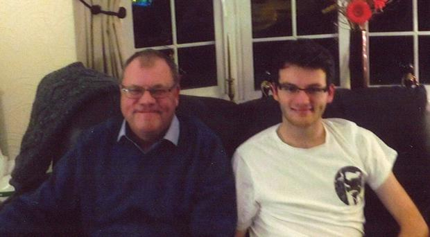 Andy Sutton with his son Stephen (Bowel Cancer UK)