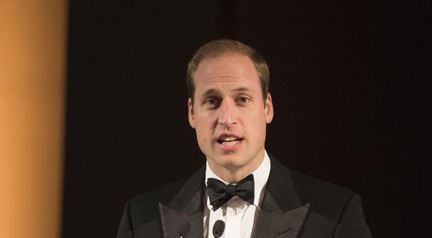 The Duke of Cambridge speaks at a gala dinner at the Imperial War Museum in London