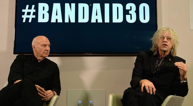 Bob Geldof, left, and Midge Ure announced plans for the track earlier this week