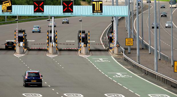 The incident happened on the M6 Toll, Staffordshire