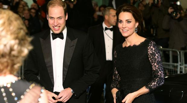 The Duke and Duchess of Cambridge arrive at the Royal Variety Performance at the Palladium Theatre
