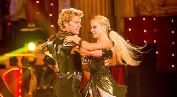 Trent Whiddon and Pixie Lott during dress rehearsals for the Strictly Come Dancing