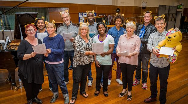 Some of the celebrities in Gareth Malone's All Star Choir for Children in Need