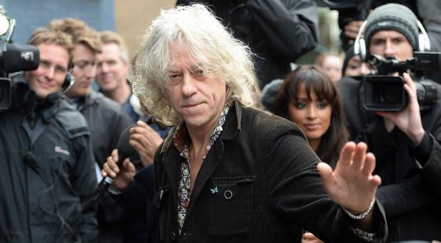 Bob Geldof came out firmly in the corner of Andrew Mitchell in the