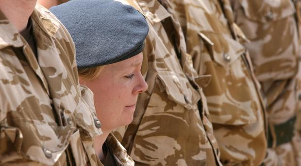 A former Army commander says women would not have the killer instinct to serve on the front line